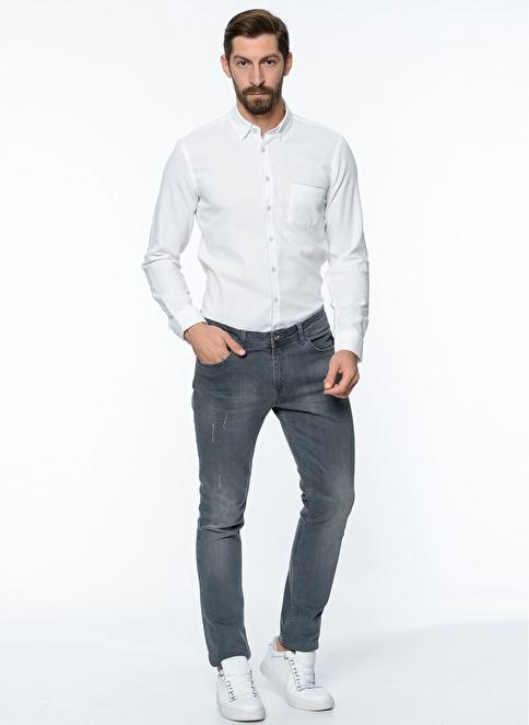 George Hogg Slim Fit Gömlek Beyaz